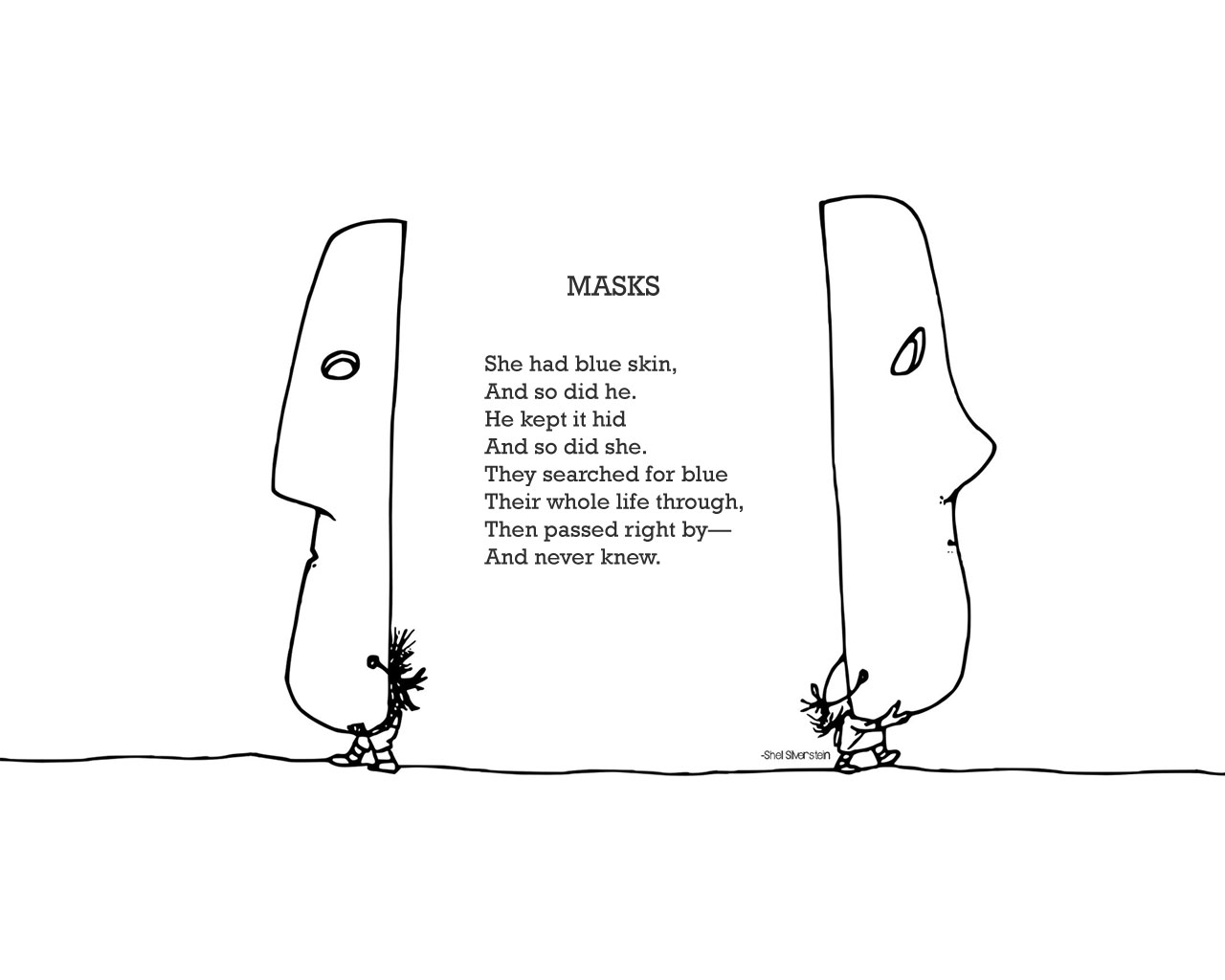 Shel Silverstein Cartoons: Victoria Rowley: Happiness By Means Of Individuality In